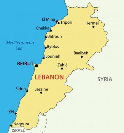 Lebanese Republic - Lebanon - vector map Vector
