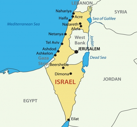 jordanian: Staat Israël Stock Illustratie