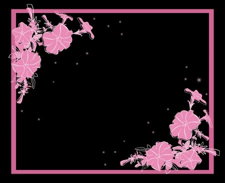floral card with pink decorations - vector Vector