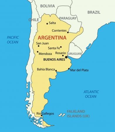 map of argentina: Argentine Republic (Argentina)