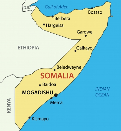 somalian: Federal Republic of Somalia - vector map Illustration