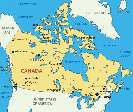 map of canada: Canada map