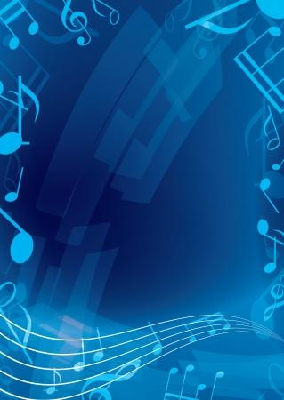 抽象的な青音楽の背景