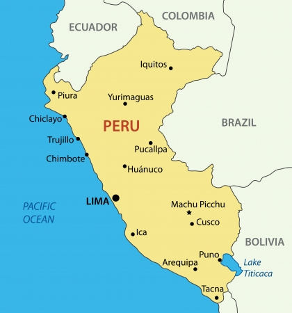 mapa peru: Rep�blica del Per� Vectores