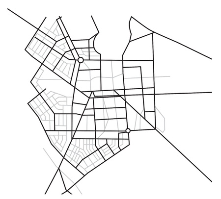 street intersection: city map