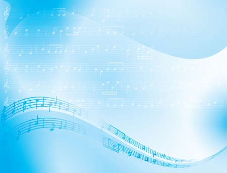 light blue abstract background - music notes