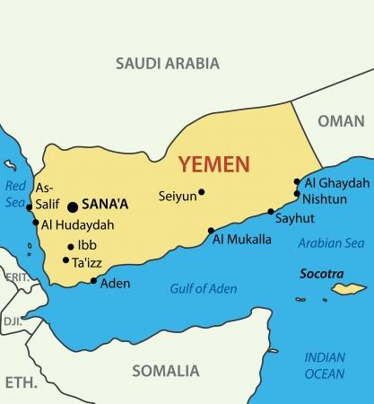 yemen: Republic of Yemen - map
