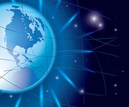 abstract background with globe  Иллюстрация