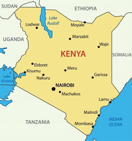 nairobi: Republic of Kenya  Illustration