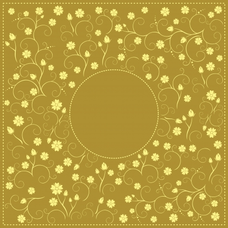 golden floral decorative card Vector
