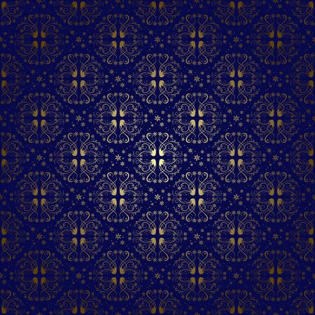 dark blue vintage background with gradient - vector Vector