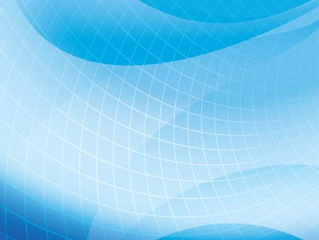 grid: light blue wavy background with grid - vector Illustration