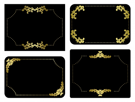 black and gold frames - vector set Vector