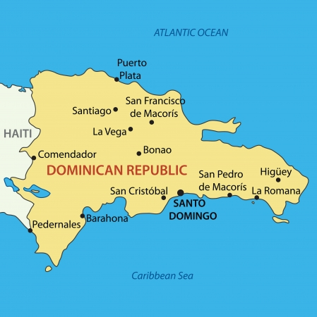 republic dominican: Dominican Republic - vector map