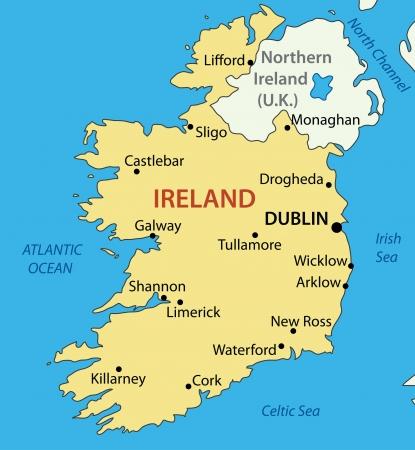 zeměpisný: Irská republika - mapa