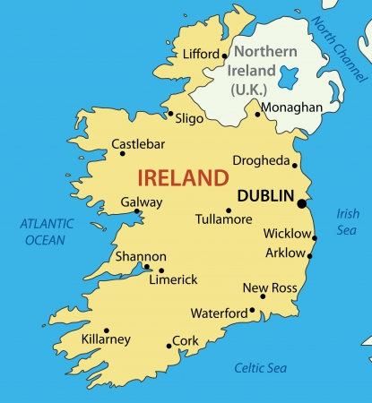 northern ireland:  Republic of Ireland -  map