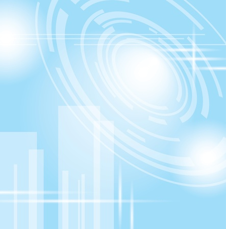 technologic: light blue vector abstract futuristic background