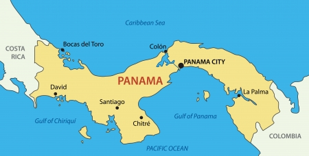panamanian: Republic of Panama -  map