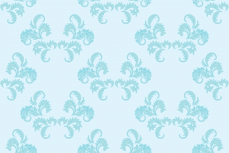 light blue floral seamless vector background Vector