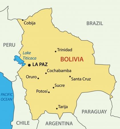 ボリビア - ベクトル マップ