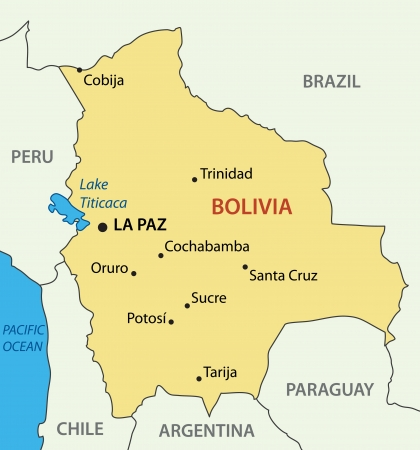 Plurinational State of Bolivia - vector map Иллюстрация