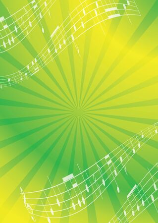 green and yellow abstract music background - flyer Vector