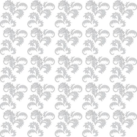 gray and white floral seamless vector background Vector