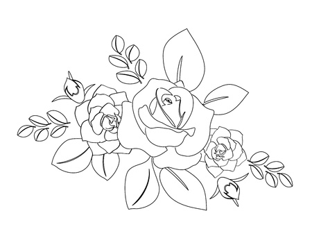 burgeon: bouquet of roses Illustration