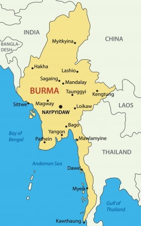 Burma -  map Stock Vector - 18115588