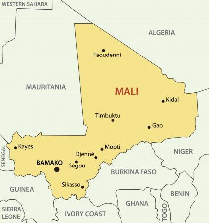 mali: Republic of Mali - vector map