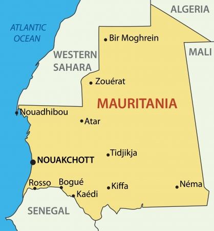 atlantic city: Islamic Republic of Mauritania -  map
