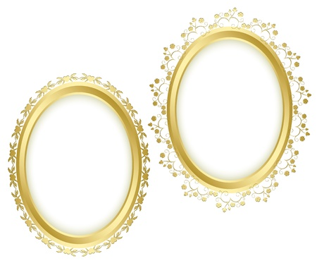 golden beautiful decorative frames - vector set.  Vector