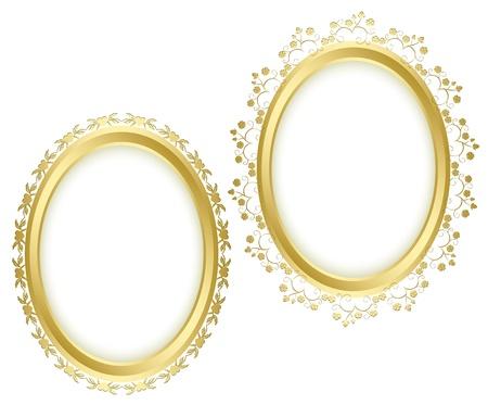 golden beautiful decorative frames - vector set.