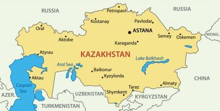 Kazakhstan Political Map