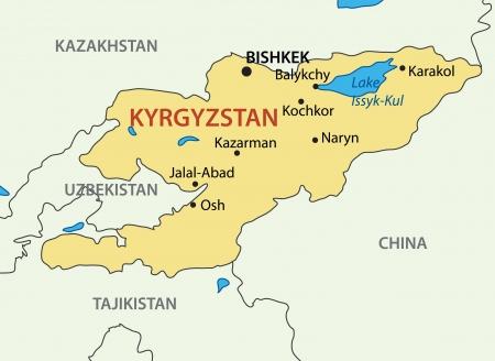 kyrgyz republic: Kyrgyz Republic - Kyrgyzstan map