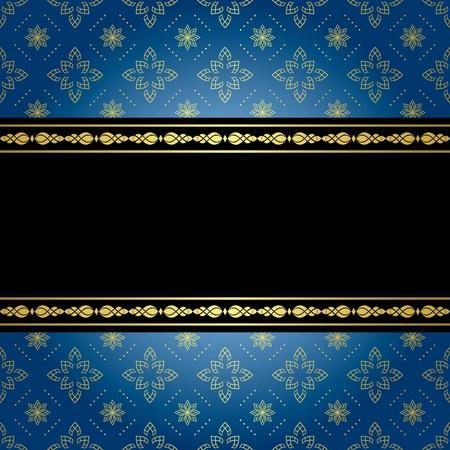 marcos decorados: azul y negro fondo de la vendimia