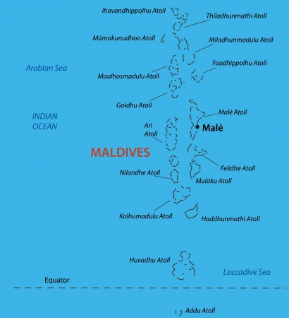 light maldives: Republic of the Maldives - vector map Illustration