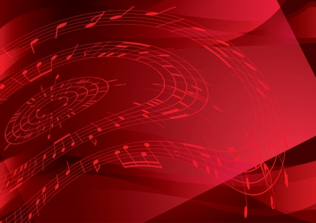 incarnadine: bright red background with music notes