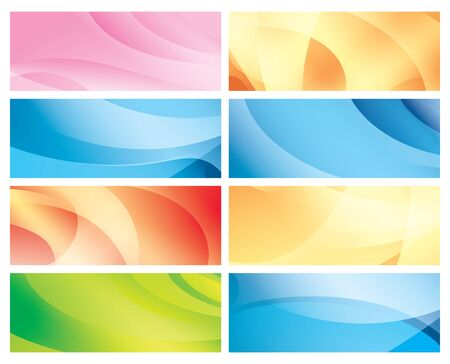 curved line: vector horizontal abstract colorful backgrounds  Illustration