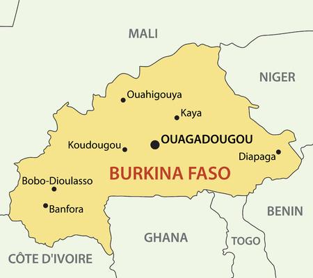 burkina faso: Burkina Faso - vector map