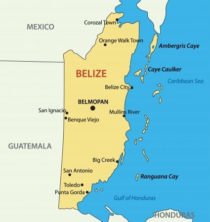 belize: Belize - map Illustration