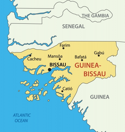 guinea: Republic of Guinea-Bissau - map Illustration