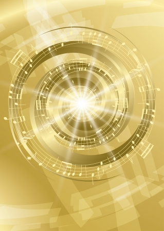 music figure: gold abstract music background