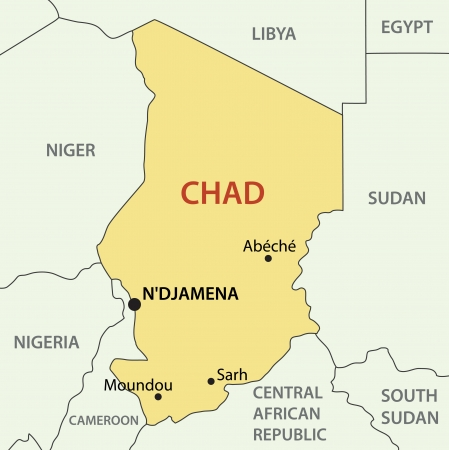 Republic of Chad - vector map