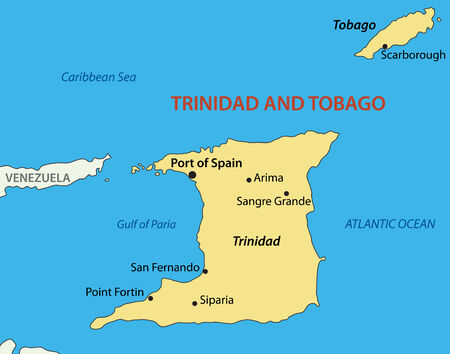 trinidad: Republic of Trinidad and Tobago map