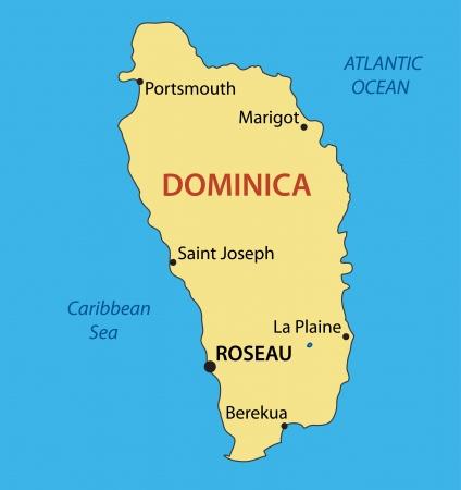 dominica: Commonwealth of Dominica - vector map