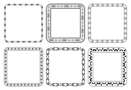 quadratic: set di cornici - piazze decorative Vettoriali