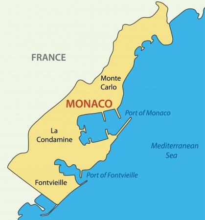 monaco: Principality of Monaco - vector map