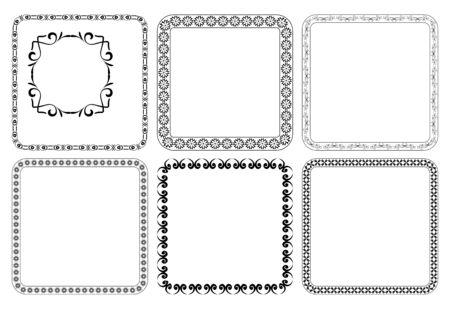 quadratic: vector set - cornici decorative quadrati