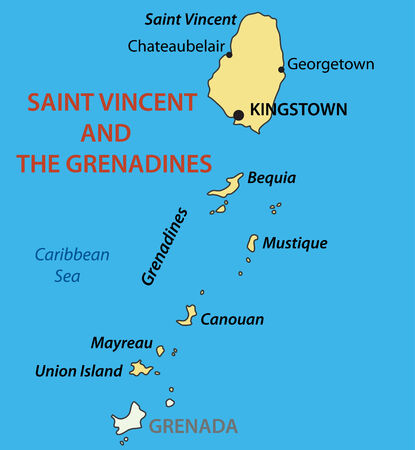 antilles: Saint Vincent and the Grenadines - vector map
